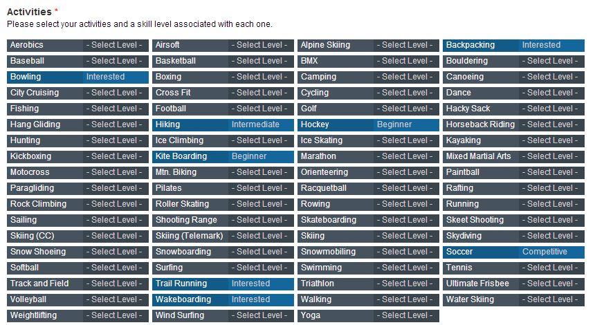 STP select activities